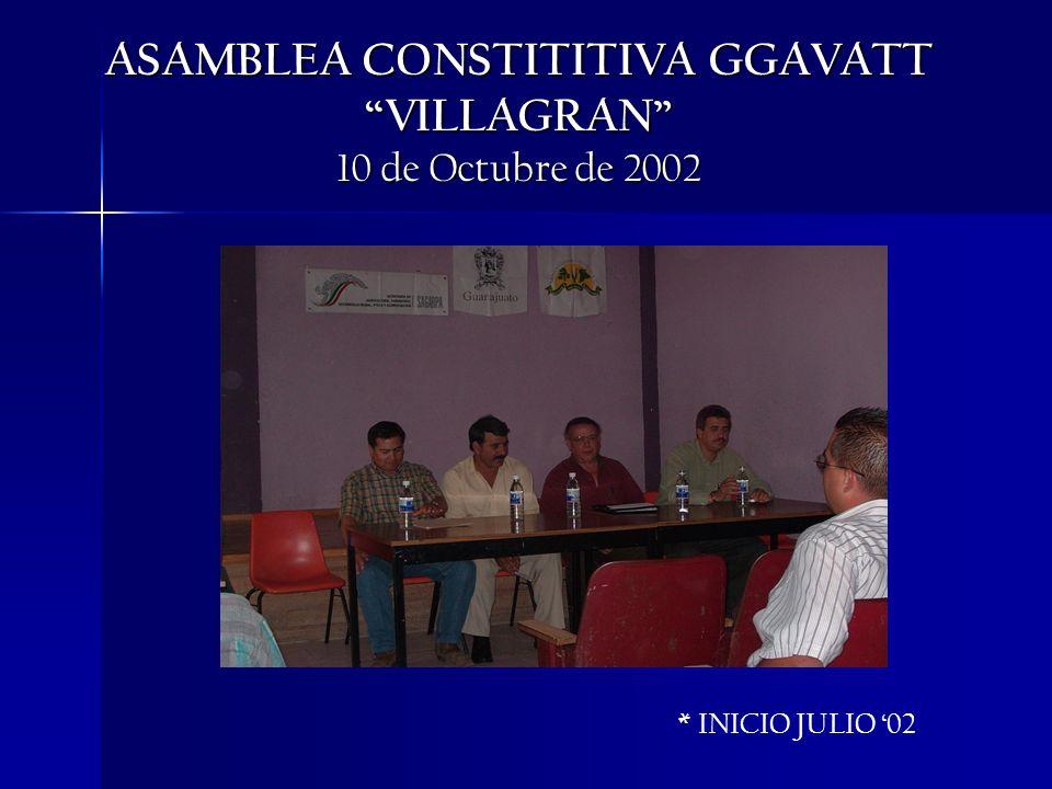ASAMBLEA CONSTITITIVA GGAVATT VILLAGRAN 10 de Octubre de 2002 * INICIO JULIO 02