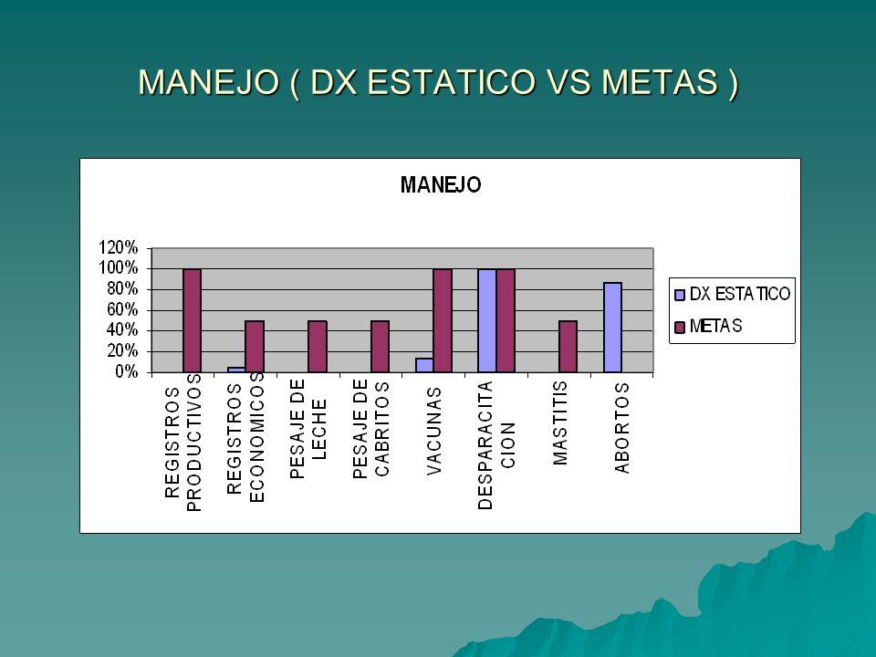 MANEJO ( DX ESTATICO VS METAS )