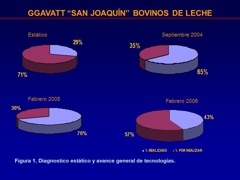 GGAVATT SAN JOAQUÍN BOVINOS DE LECHE Septiembre 2004 Febrero 2005 Febrero 2006 Estático Figura 1. Diagnostico estático y avance general de tecnologías