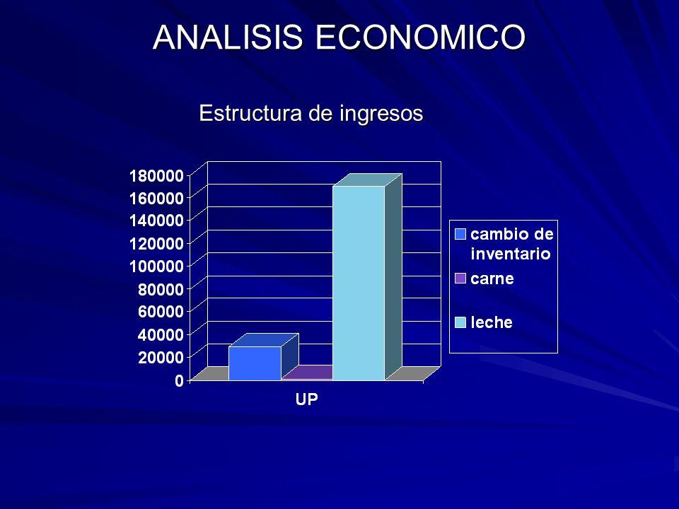 ANALISIS ECONOMICO Estructura de costos e ingresos Estructura de costos