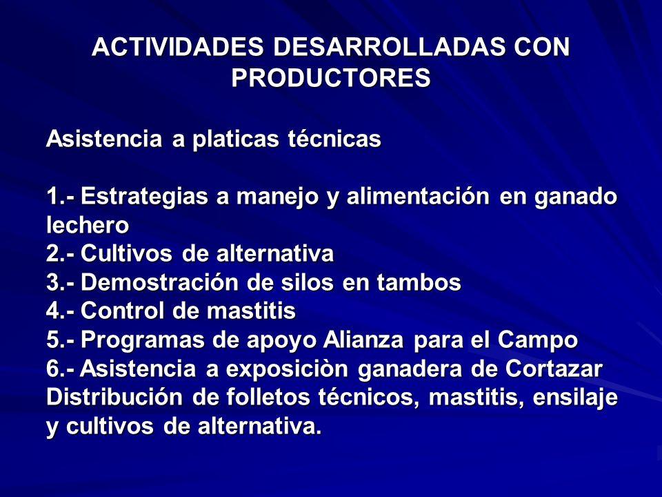 APOYOS GESTIONADOS CON LOS PROGRAMAS DE ALIANZA PARA EL CAMPO ConceptoAlianzaProductorTotal 1Cegadora forraje 57,00028,50028,500 1 m. martillos 10,830