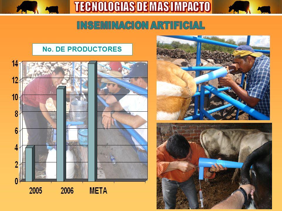 No. DE PRODUCTORES