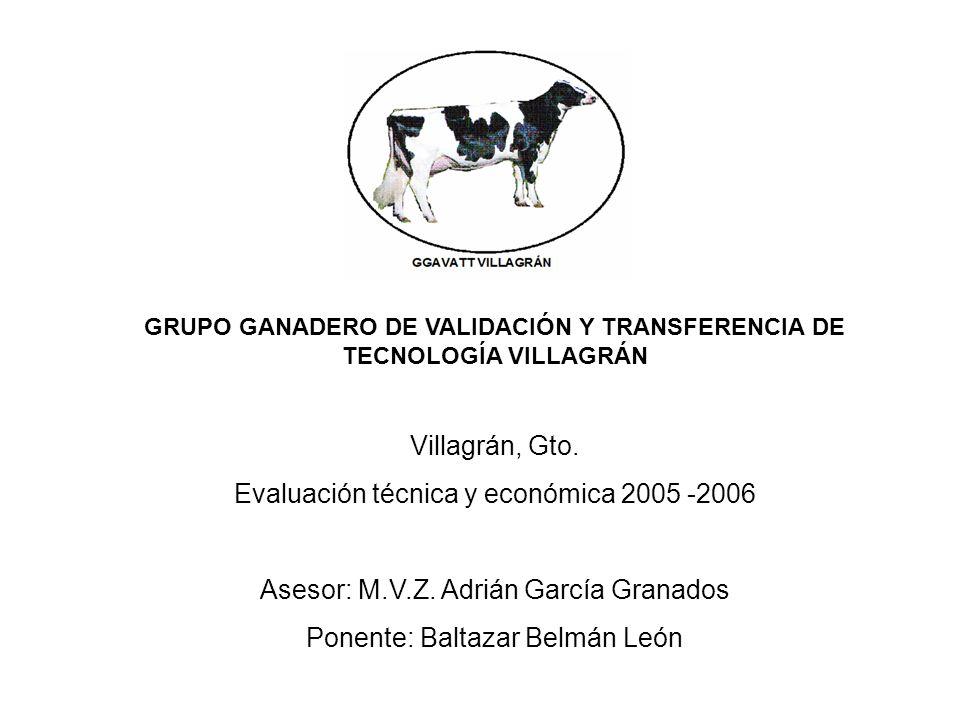 GRUPO GANADERO DE VALIDACIÓN Y TRANSFERENCIA DE TECNOLOGÍA VILLAGRÁN Villagrán, Gto.