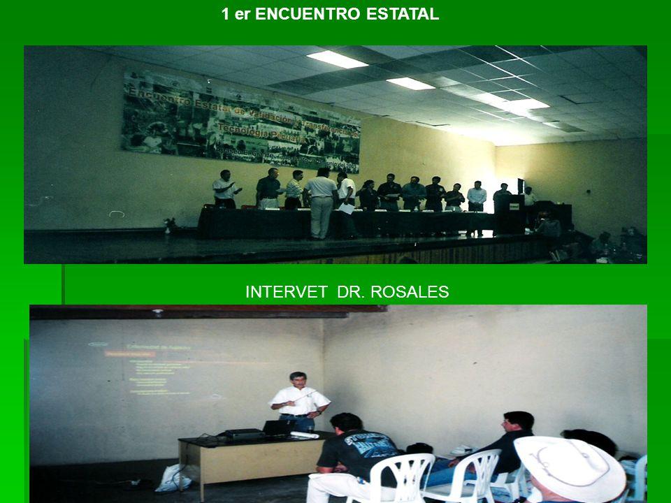 1 er ENCUENTRO ESTATAL INTERVET DR. ROSALES