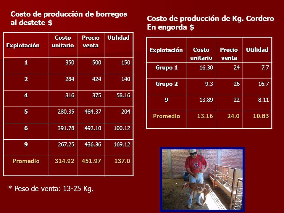 DATOS ECONOMICOS Explotación Sistema de Producción Inversión total Costos totales de producción Ingresos totales Utilidad en el periodo 1Estabulado209