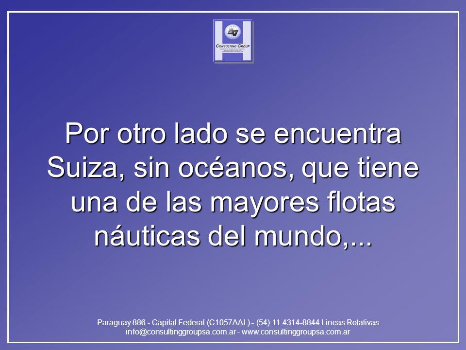Paraguay 886 - Capital Federal (C1057AAL) - (54) 11 4314-8844 Lineas Rotativas info@consultinggroupsa.com.ar - www.consultinggroupsa.com.ar Por otro lado se encuentra Suiza, sin océanos, que tiene una de las mayores flotas náuticas del mundo,...