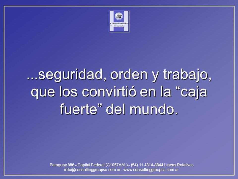 Paraguay 886 - Capital Federal (C1057AAL) - (54) 11 4314-8844 Lineas Rotativas info@consultinggroupsa.com.ar - www.consultinggroupsa.com.ar...segurida