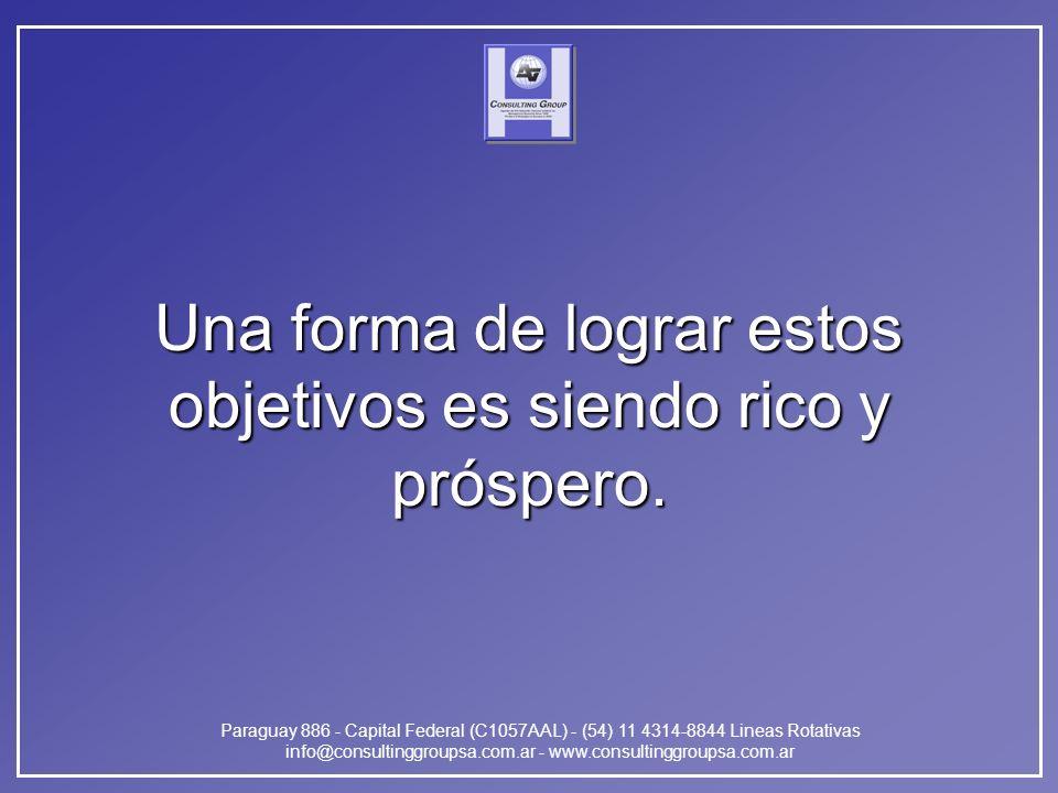 Paraguay 886 - Capital Federal (C1057AAL) - (54) 11 4314-8844 Lineas Rotativas info@consultinggroupsa.com.ar - www.consultinggroupsa.com.ar Una forma