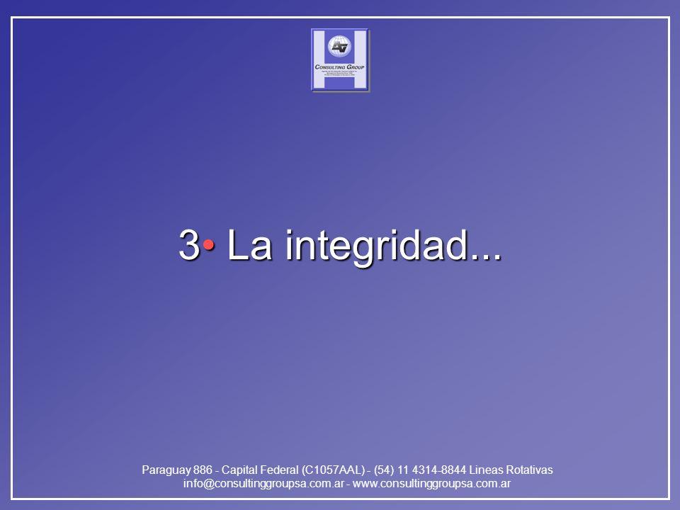 Paraguay 886 - Capital Federal (C1057AAL) - (54) 11 4314-8844 Lineas Rotativas info@consultinggroupsa.com.ar - www.consultinggroupsa.com.ar 3 La integ