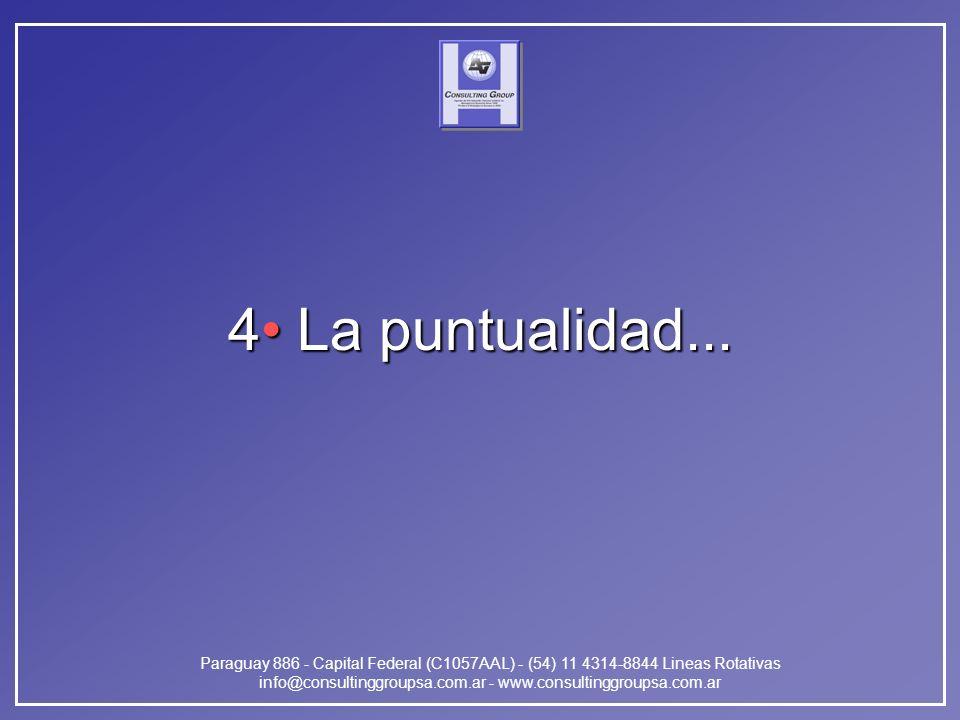 Paraguay 886 - Capital Federal (C1057AAL) - (54) 11 4314-8844 Lineas Rotativas info@consultinggroupsa.com.ar - www.consultinggroupsa.com.ar 4 La puntu