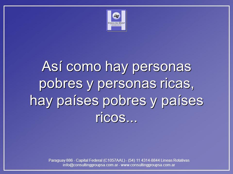 Paraguay 886 - Capital Federal (C1057AAL) - (54) 11 4314-8844 Lineas Rotativas info@consultinggroupsa.com.ar - www.consultinggroupsa.com.ar Así como h