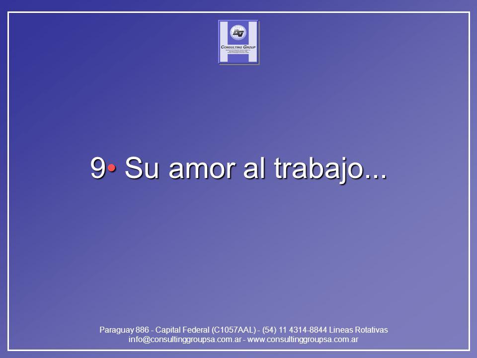Paraguay 886 - Capital Federal (C1057AAL) - (54) 11 4314-8844 Lineas Rotativas info@consultinggroupsa.com.ar - www.consultinggroupsa.com.ar 9 Su amor al trabajo...