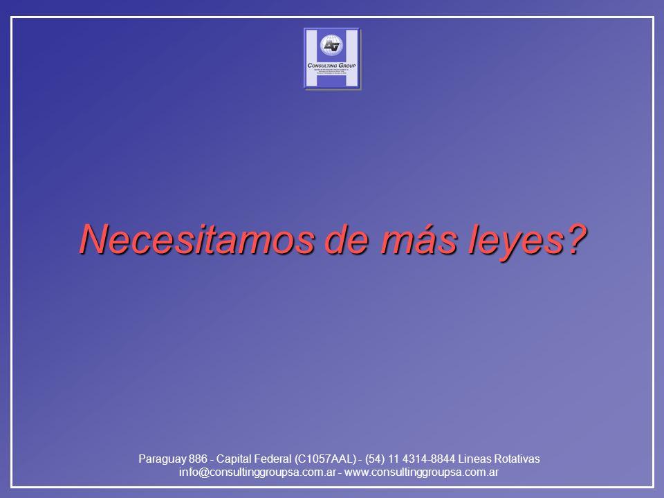 Paraguay 886 - Capital Federal (C1057AAL) - (54) 11 4314-8844 Lineas Rotativas info@consultinggroupsa.com.ar - www.consultinggroupsa.com.ar Necesitamo