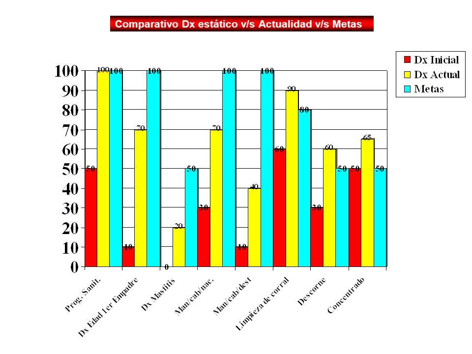 Dx estático v/s Actualidad v/s Metas Comparativo Dx estático v/s Actualidad v/s Metas