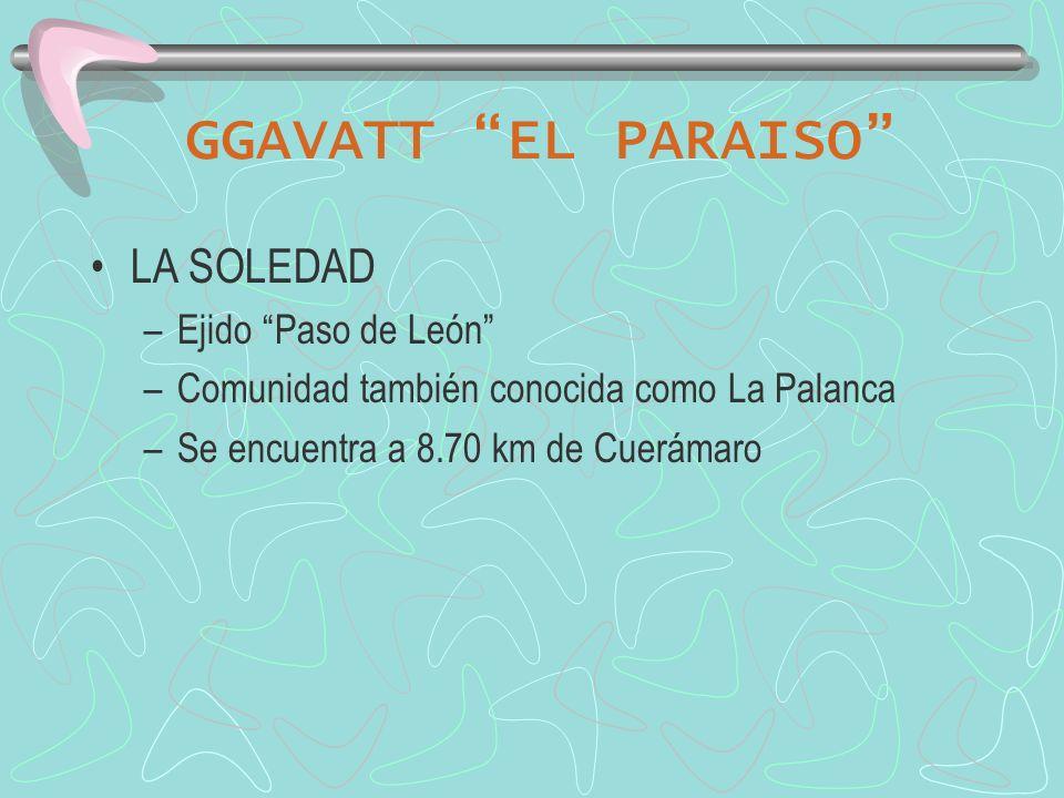 GGAVATT EL PARAISO LOCALIDAD LA SOLEDAD