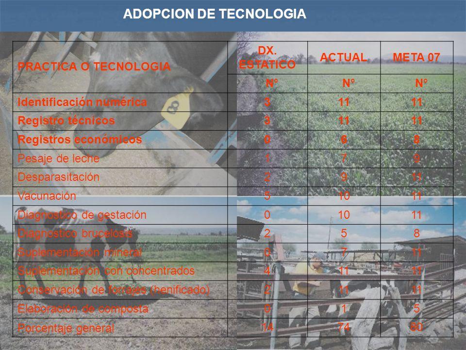 ADOPCION DE TECNOLOGIA PRACTICA O TECNOLOGIA DX.