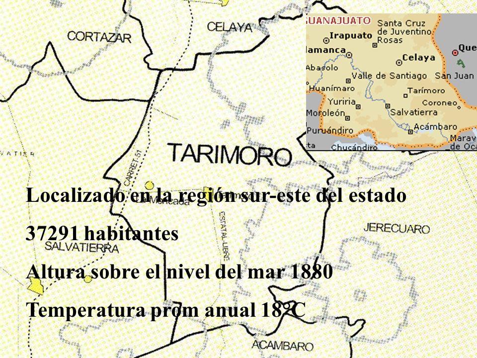 Localizado en la región sur-este del estado 37291 habitantes Altura sobre el nivel del mar 1880 Temperatura prom anual 18°C