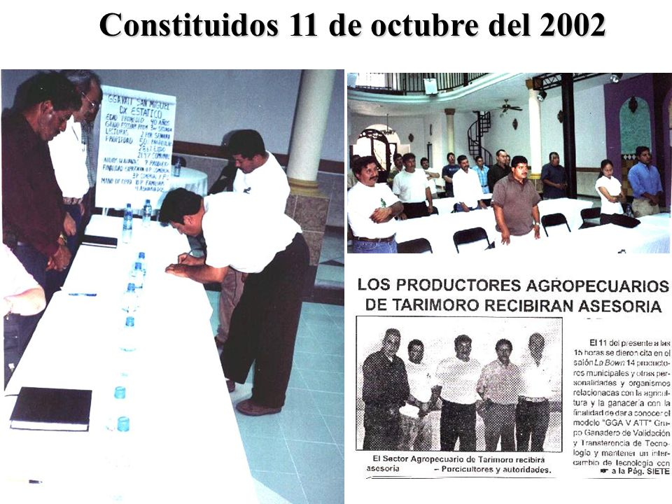 Constituidos 11 de octubre del 2002