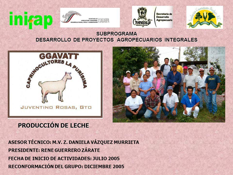 MARCO DE REFERENCIA Especie ProductoCabras Lecheras Inicio de actividades del técnico Julio 2005 No.