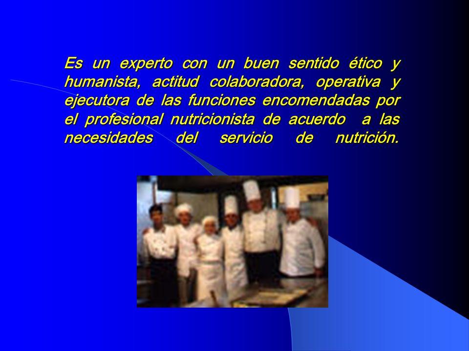 PERFIL DEL TECNICO ASISTENCIAL EN NUTRICION Lic. Irma Martínez N.