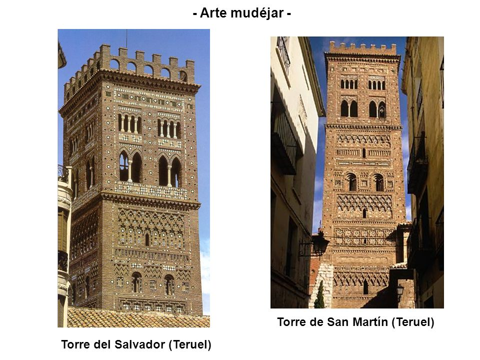 Torre del Salvador (Teruel) - Arte mudéjar - Torre de San Martín (Teruel)
