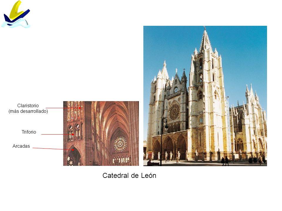 Catedral de León Arcadas Triforio Claristorio (más desarrollado)