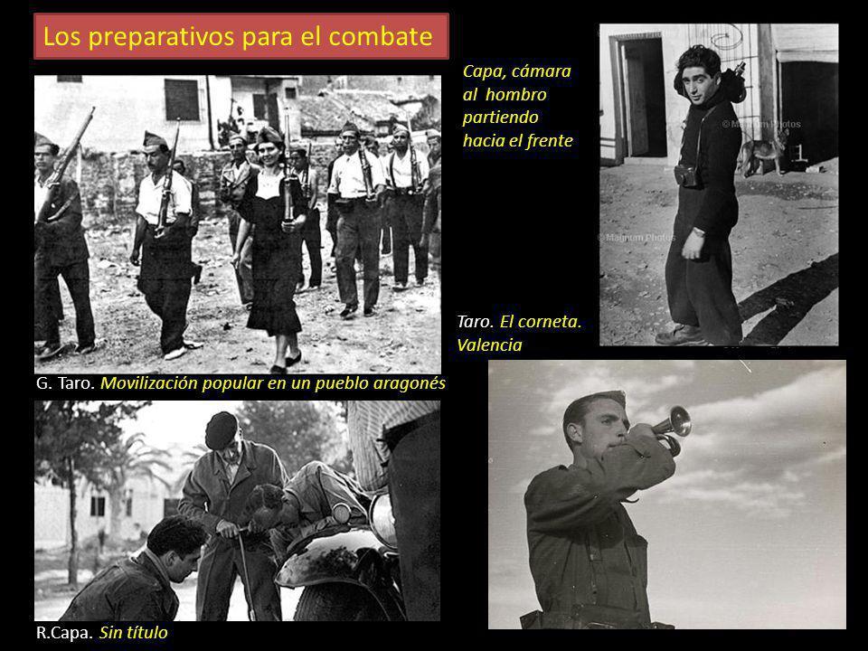 Parejas en los primeros días de la guerra R. Capa. Ramblas de Barcelona G. Taro Novios en Guadalajara R. Capa. Madrid Centelles. Barcelona