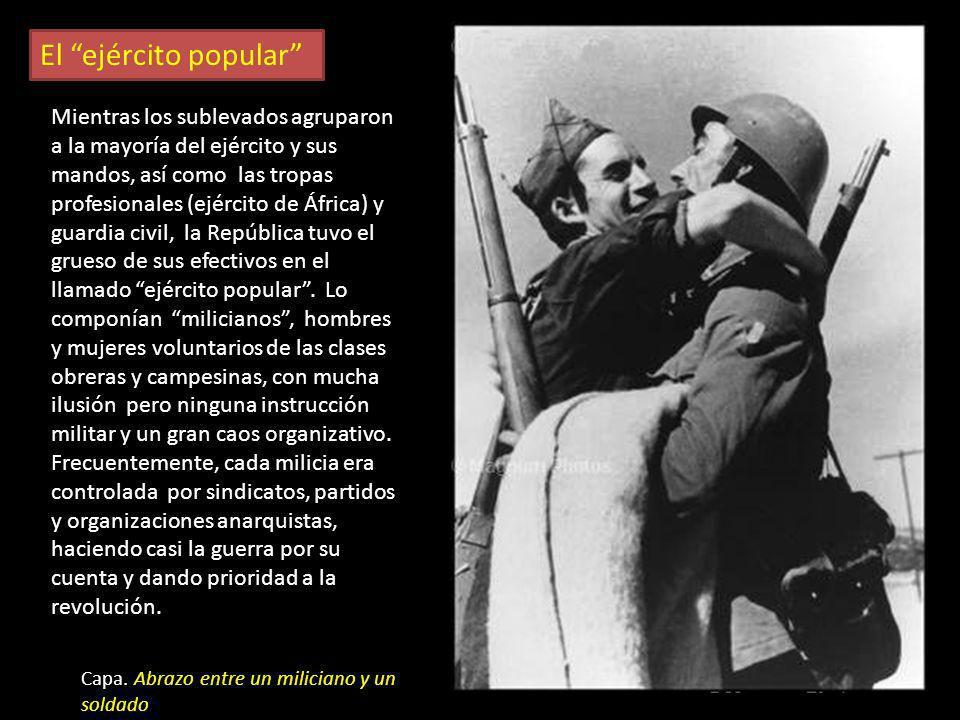 Los fotógrafos en el frente Gerda Taro en el frente de Aragón R. Capa en la batalla de Belchite Centelles en el frente de Teruel