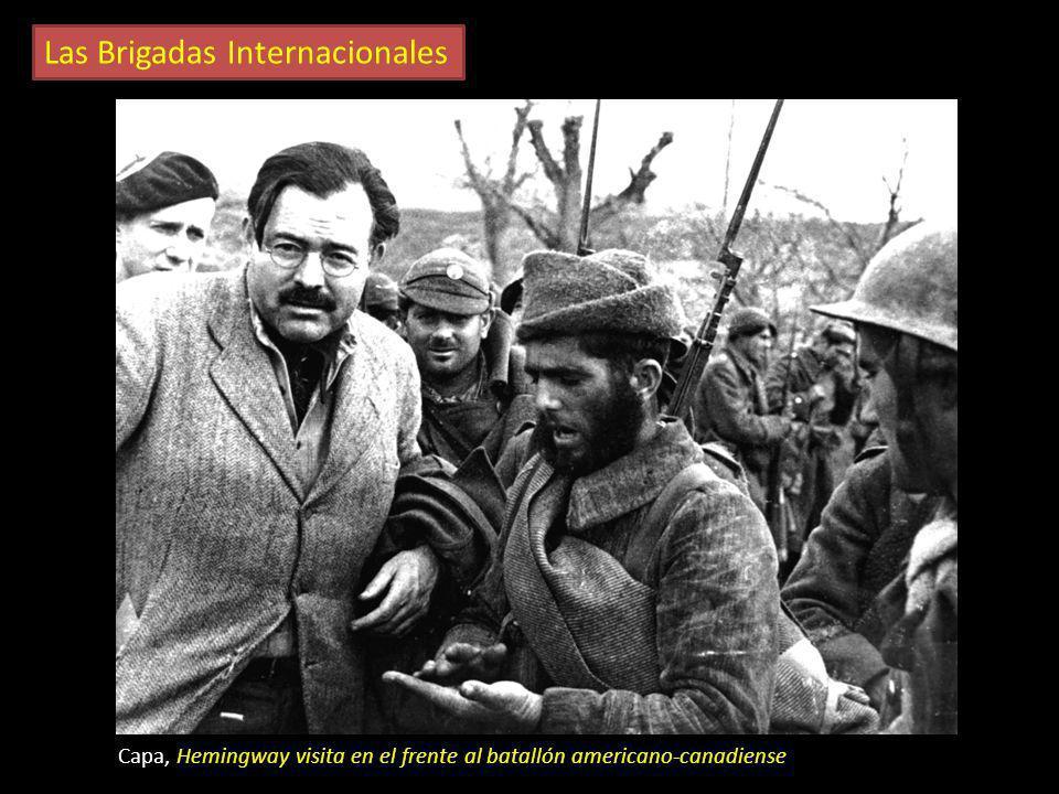 Las Brigadas Internacionales Capa, Voluntarios brigadistas De diversas partes del mundo llegaron voluntarios para combatir con el bando republicano. S
