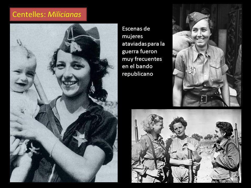 La mujer en la guerra G. Taro, Milicianas En la zona republicana, las mujeres participaron activamente en la guerra, no solo en retaguardia, sino tamb