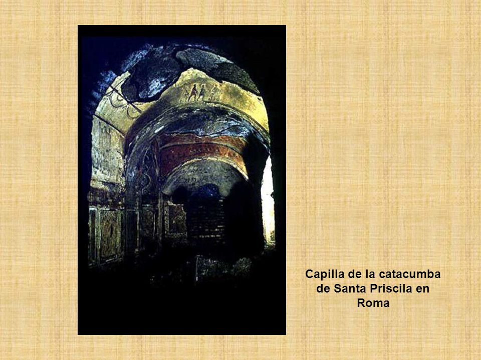 Capilla de la catacumba de Santa Priscila en Roma