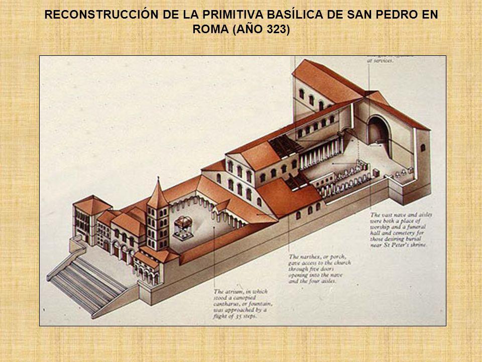 RECONSTRUCCIÓN DE LA PRIMITIVA BASÍLICA DE SAN PEDRO EN ROMA (AÑO 323)