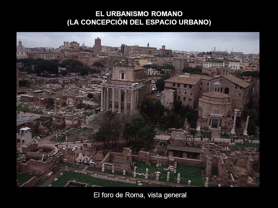 EL URBANISMO ROMANO (LA CONCEPCIÓN DEL ESPACIO URBANO) El foro de Roma, vista general