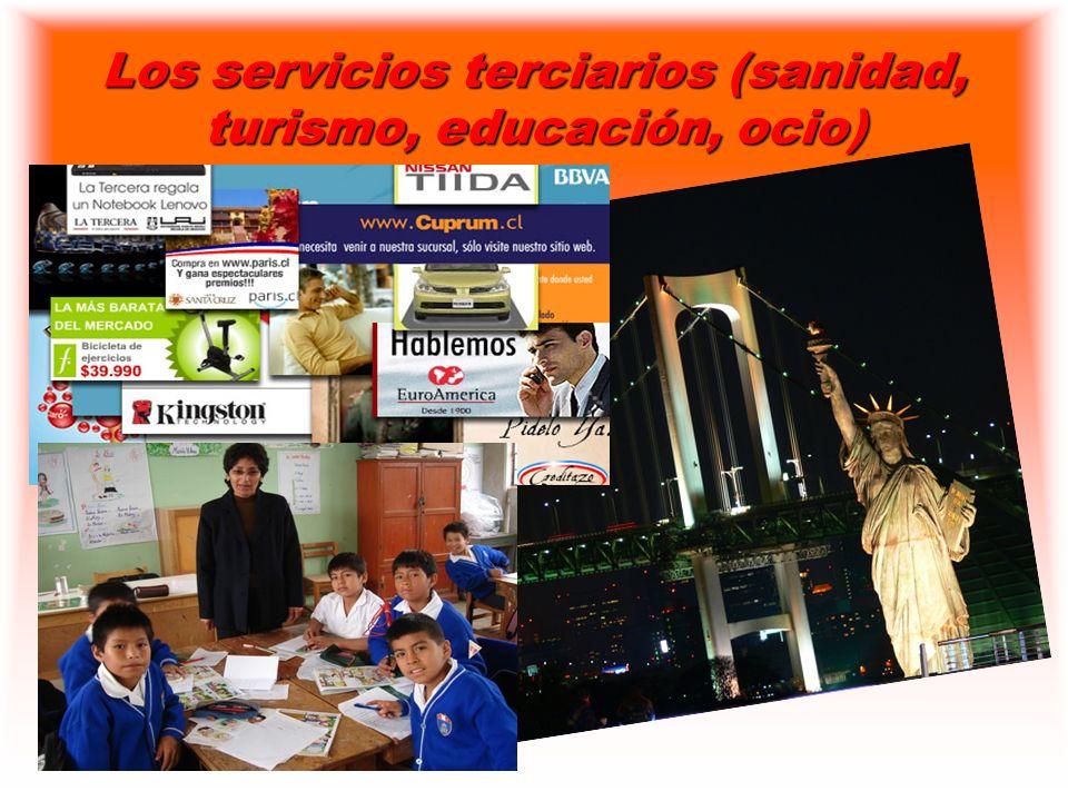 Los servicios terciarios (sanidad, turismo, educación, ocio)