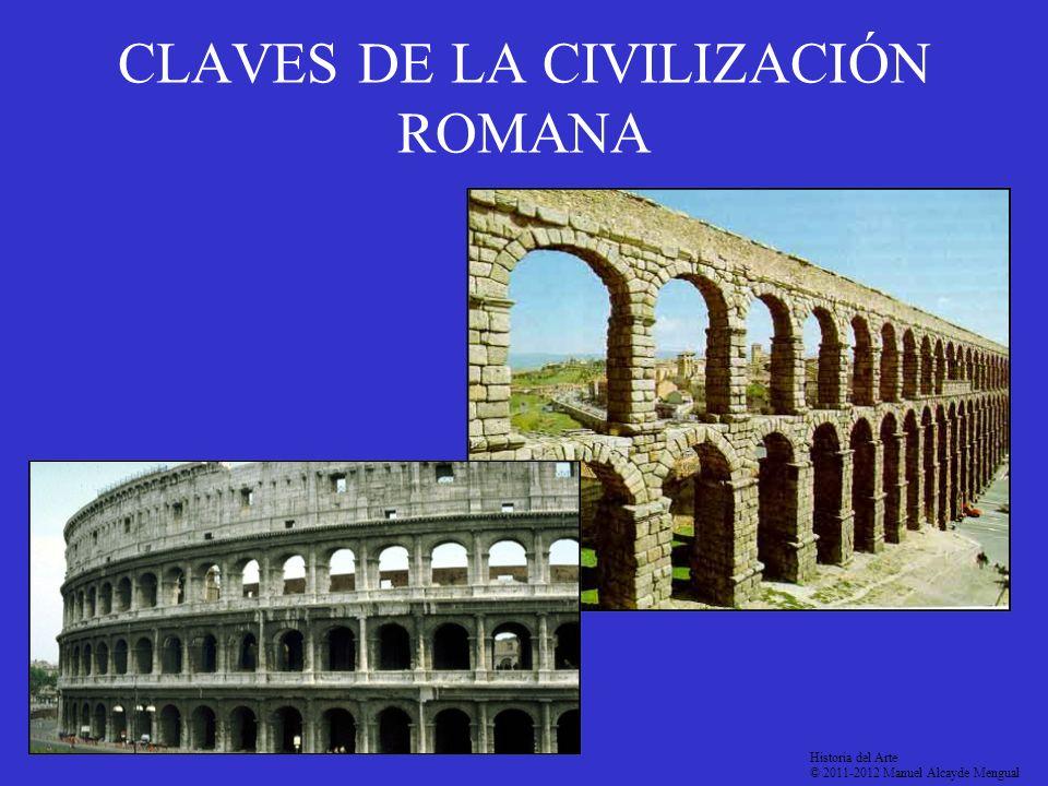 CLAVES DE LA CIVILIZACIÓN ROMANA Historia del Arte © 2011-2012 Manuel Alcayde Mengual