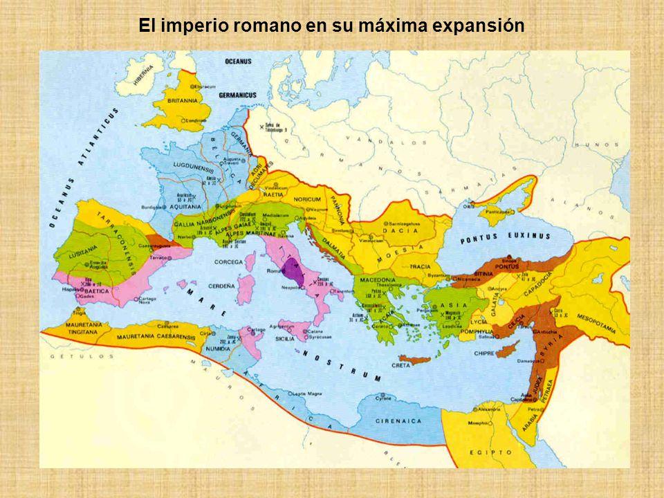 LA ROMANIZACIÓN El proceso de expansión territorial de Roma fue acompañado, además de por las legiones, de la difusión de su lengua, sus tradiciones religiosas y, en general, de su cultura.