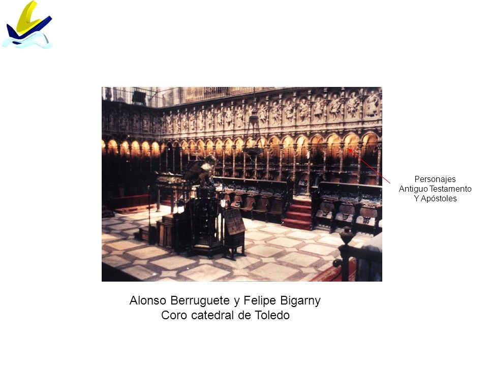 Alonso Berruguete y Felipe Bigarny Coro catedral de Toledo Personajes Antiguo Testamento Y Apóstoles