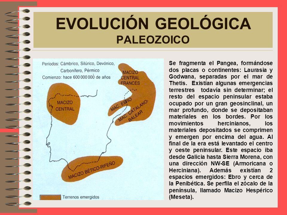 EVOLUCIÓN GEOLÓGICA PRECÁMBRICO De la época precámbrica quedan escasos restos de antiguos macizos sobre los que se apoyan los terrenos primarios. Emer