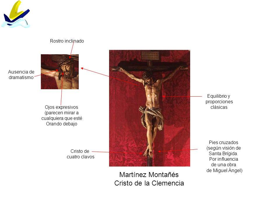 Martínez Montañés Cristo de la Clemencia Equilibrio y proporciones clásicas Pies cruzados (según visión de Santa Brígida. Por influencia de una obra d