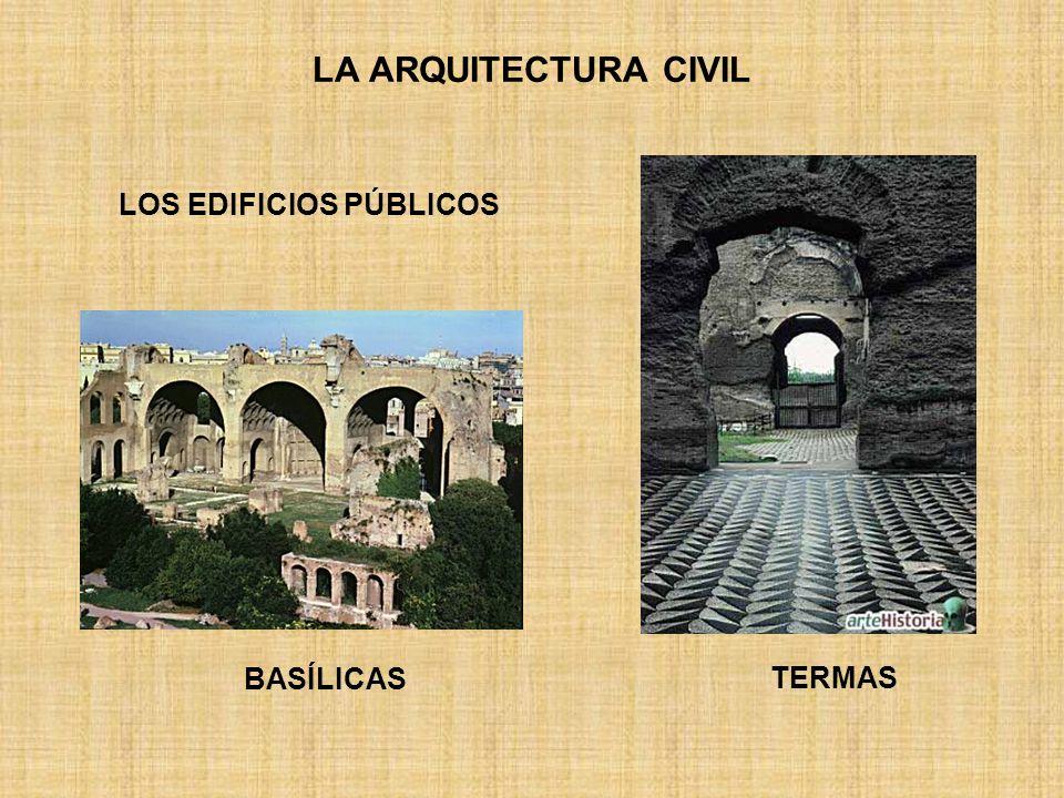 LA ARQUITECTURA CIVIL TERMAS LOS EDIFICIOS PÚBLICOS BASÍLICAS