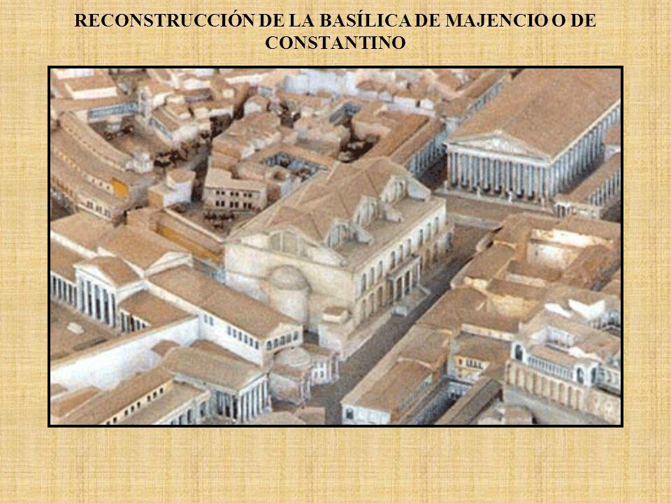RECONSTRUCCIÓN DE LA BASÍLICA DE MAJENCIO O DE CONSTANTINO