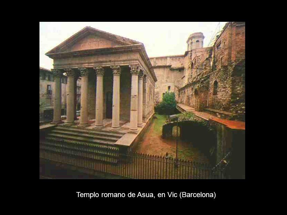 Templo romano de Asua, en Vic (Barcelona)