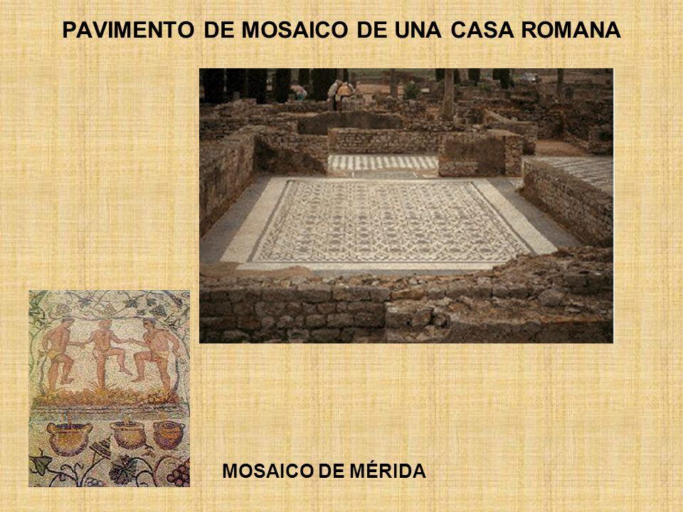 PAVIMENTO DE MOSAICO DE UNA CASA ROMANA MOSAICO DE MÉRIDA