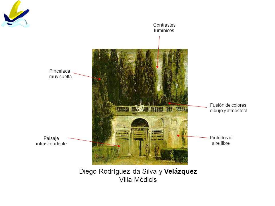 Diego Rodríguez da Silva y Velázquez Villa Médicis Pincelada muy suelta Pintados al aire libre Contrastes lumínicos Paisaje intrascendente Fusión de c