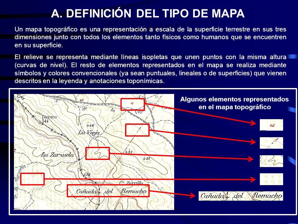 Un mapa topográfico es una representación a escala de la superficie terrestre en sus tres dimensiones junto con todos los elementos tanto físicos como