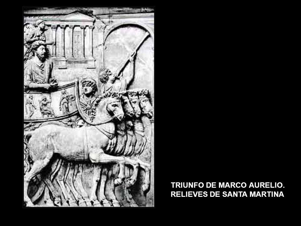 TRIUNFO DE MARCO AURELIO. RELIEVES DE SANTA MARTINA