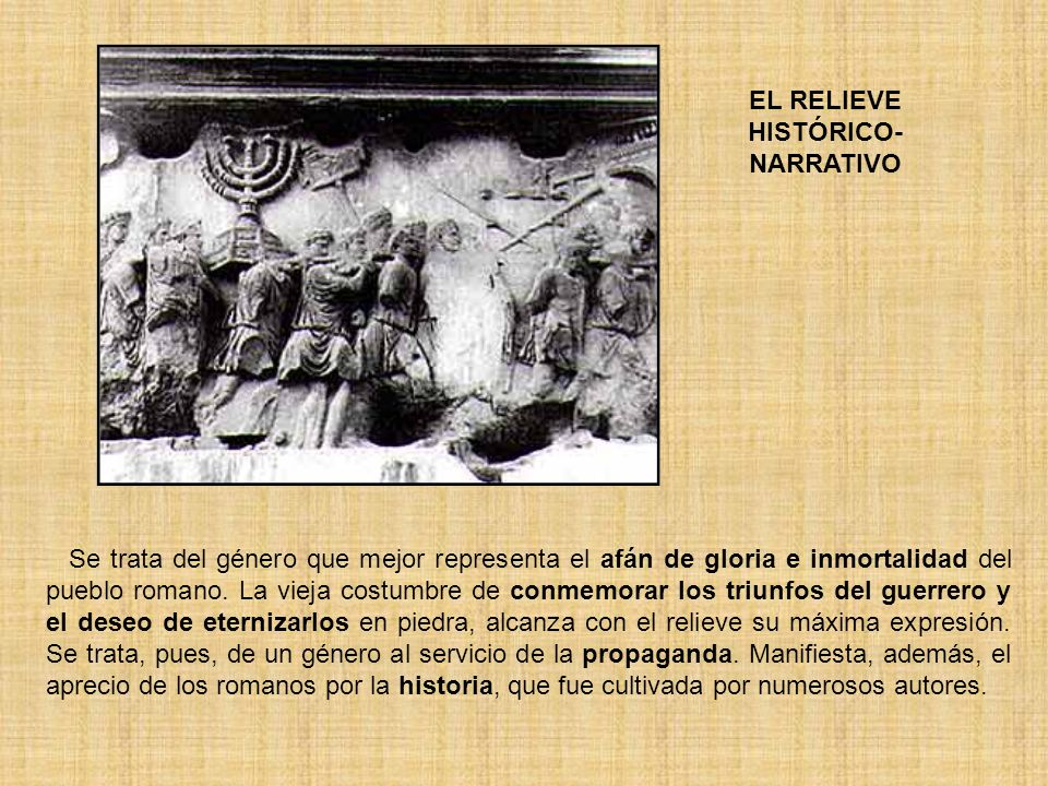 RELIEVES SOBRE COLUMNAS COLUMNA DE MARCO AURELIO RELIEVES DE LA BASA DE ANTONINO · La ilusión de espacio queda sacrificada en esta ocasión por el interés narrativo.