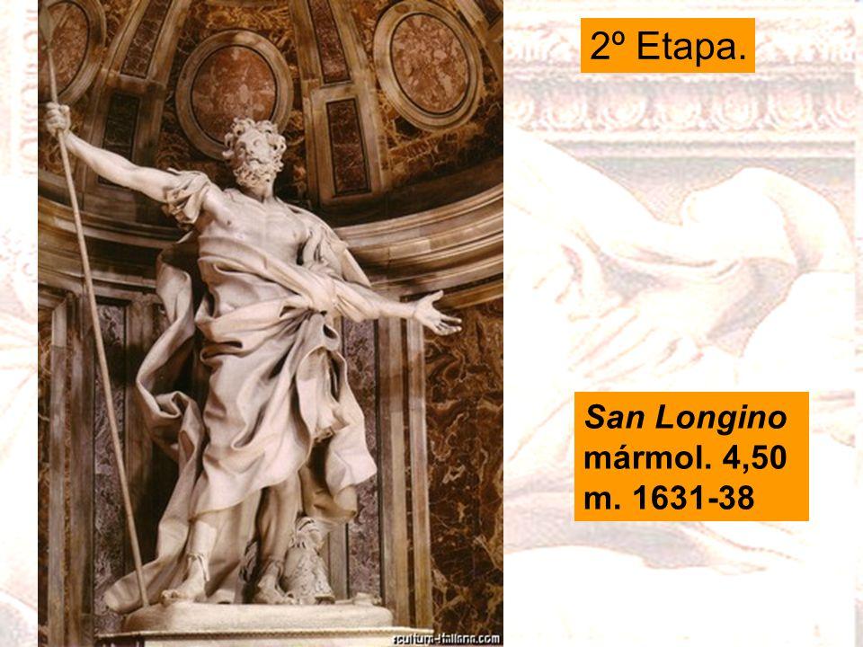 San Longino mármol. 4,50 m. 1631-38 2º Etapa.