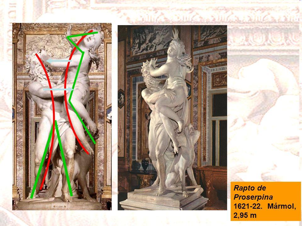 Rapto de Proserpina 1621-22. Mármol, 2,95 m