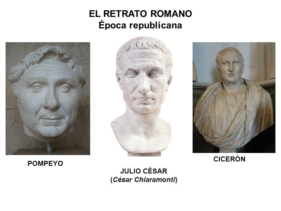 POMPEYO JULIO CÉSAR (César Chiaramonti) CICERÓN EL RETRATO ROMANO Época republicana